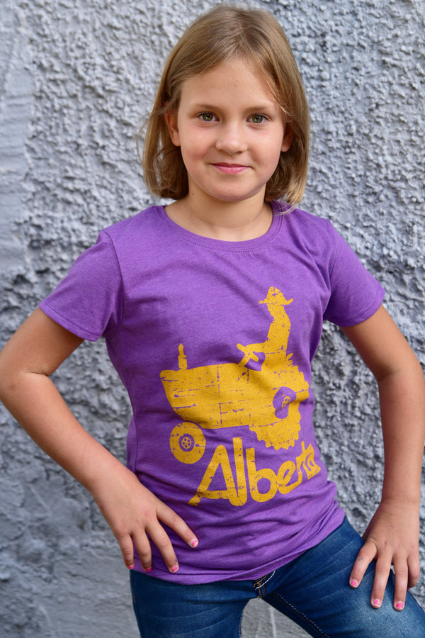 Girls Alberta Tractor T-shirt - Ole Originals Clothing Co.