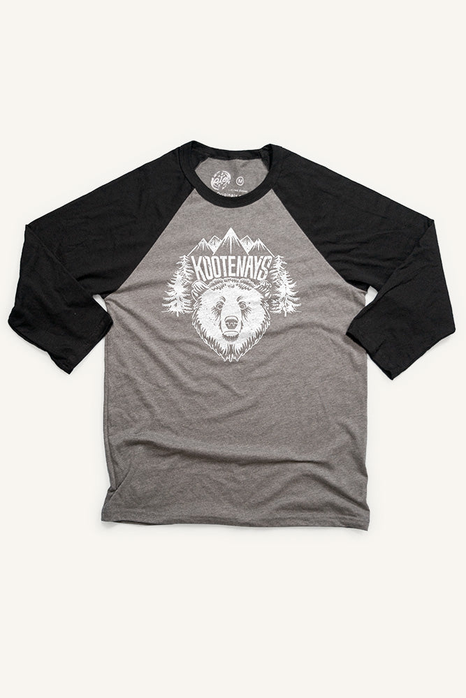 Kootenay Bear Baseball Shirt (Unisex) - Ole Originals Clothing Co.