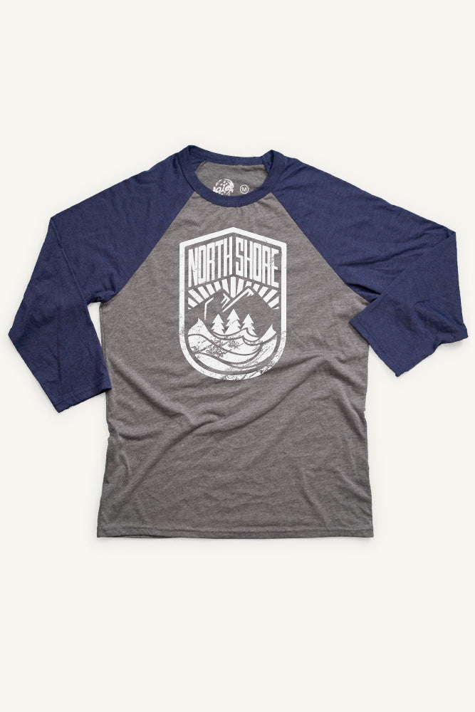 North Shore Crest Baseball Shirt (Unisex) - Ole Originals Clothing Co.