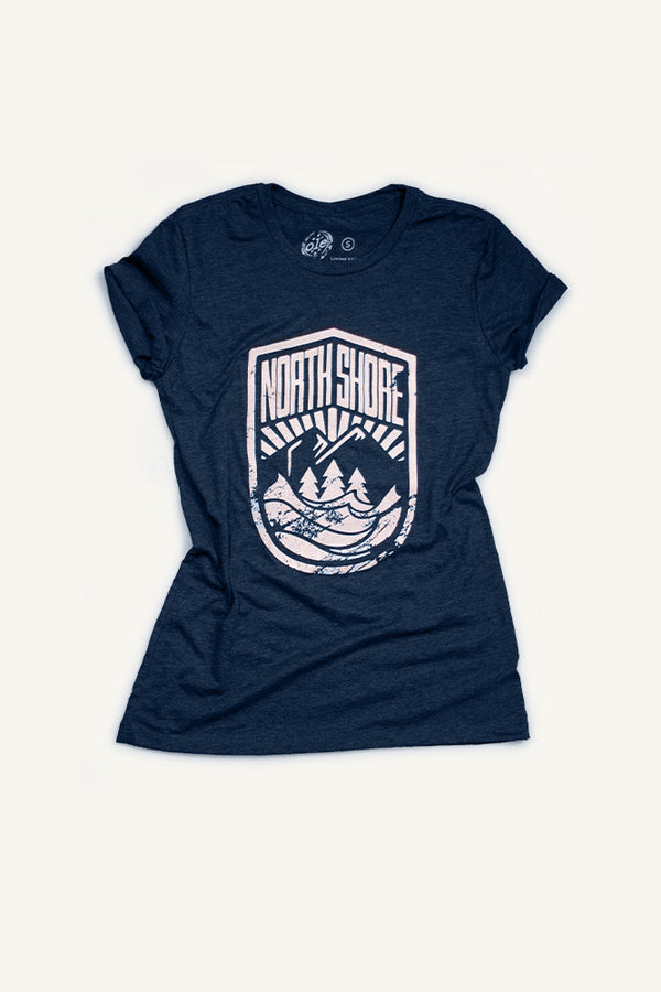 North Shore Crest - T-shirt - Women - Ole Originals Clothing Co.