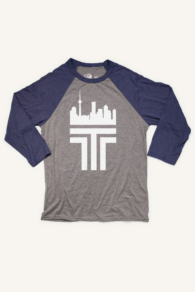 Toronto 'T' Baseball Shirt (Unisex) - Ole Originals Clothing Co.