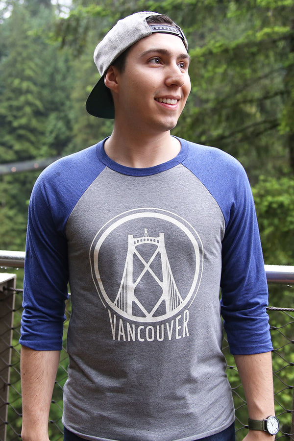 Vancouver Lions Gate Baseball Shirt (Unisex) - Ole Originals Clothing Co.