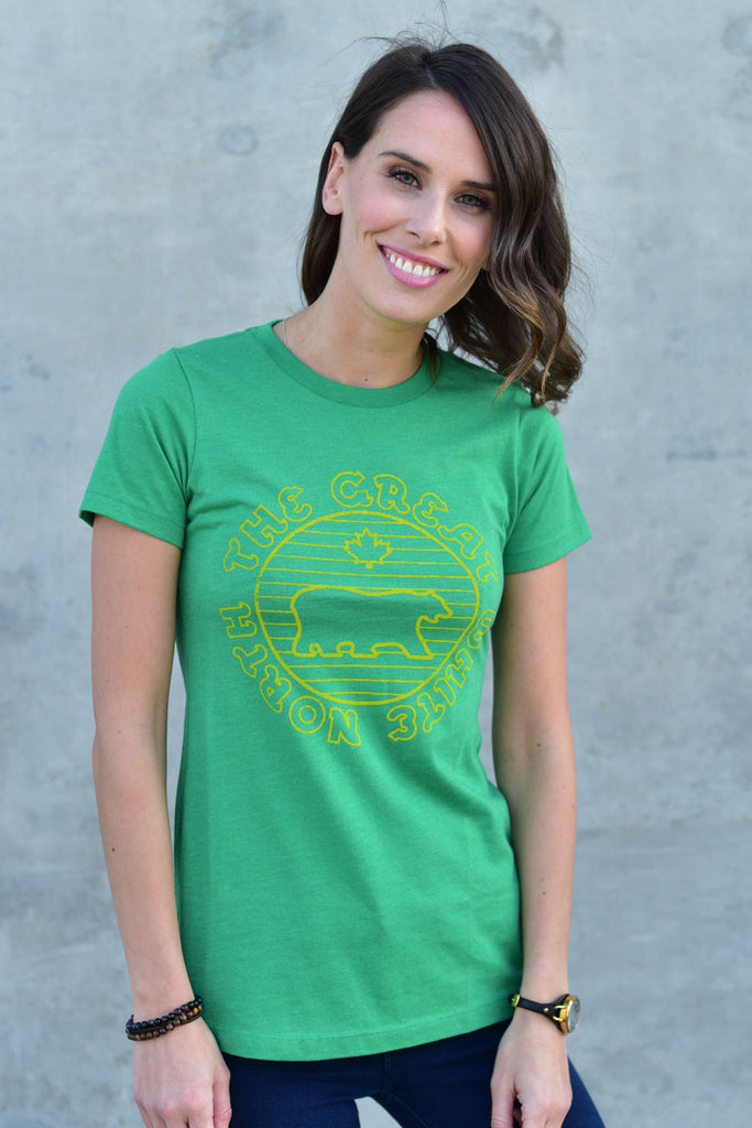 GREAT WHITE NORTH T-SHIRT - WOMENS - Ole Originals Clothing Co.