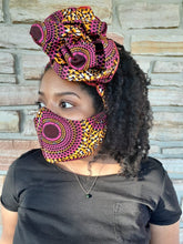 Load image into Gallery viewer, Sasha | Reusable Face Mask + Headwrap bundle