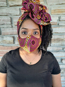 Sasha | Reusable Face Mask + Headwrap bundle