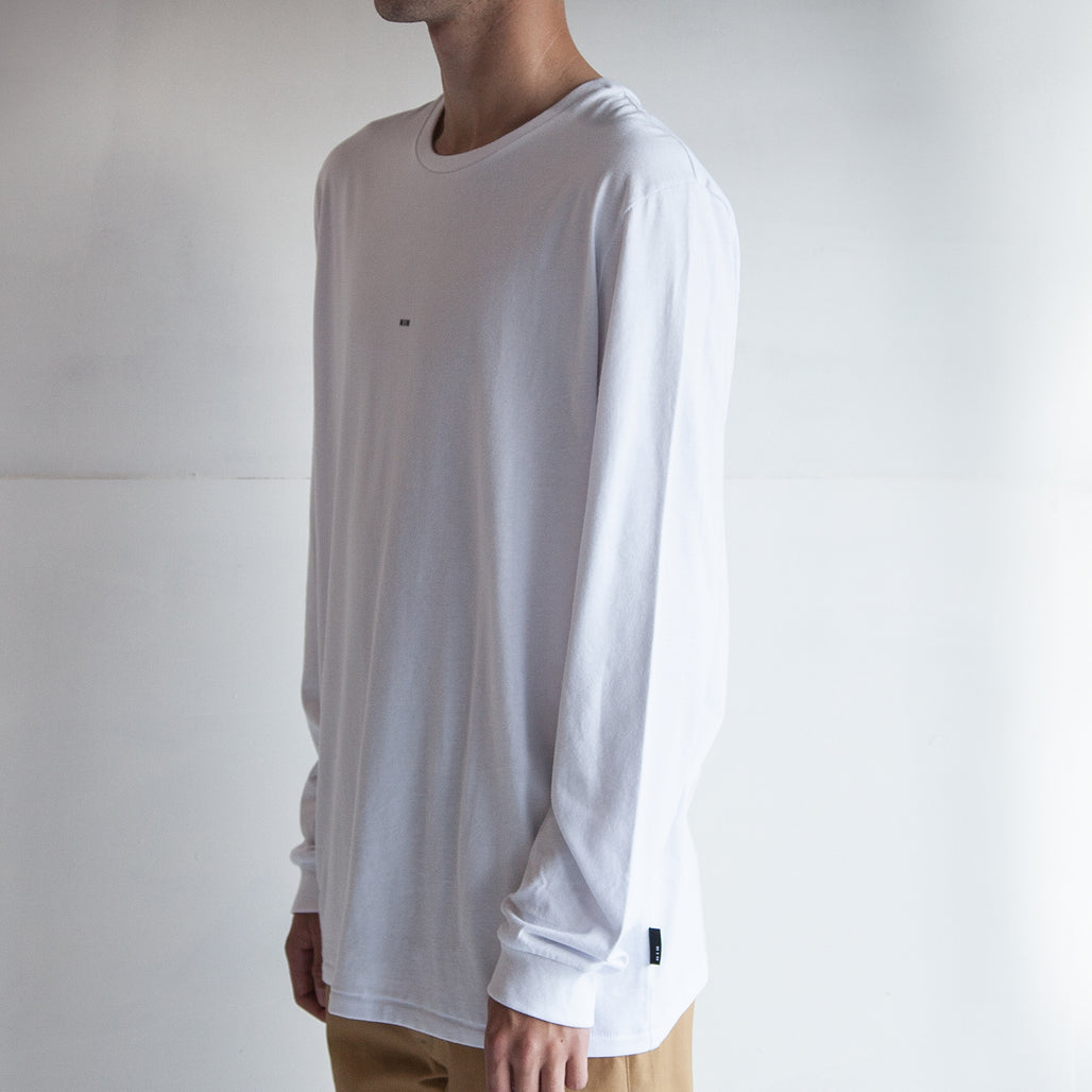 THE CUFFED LS TEE / WHITE / LITTLE HIH.