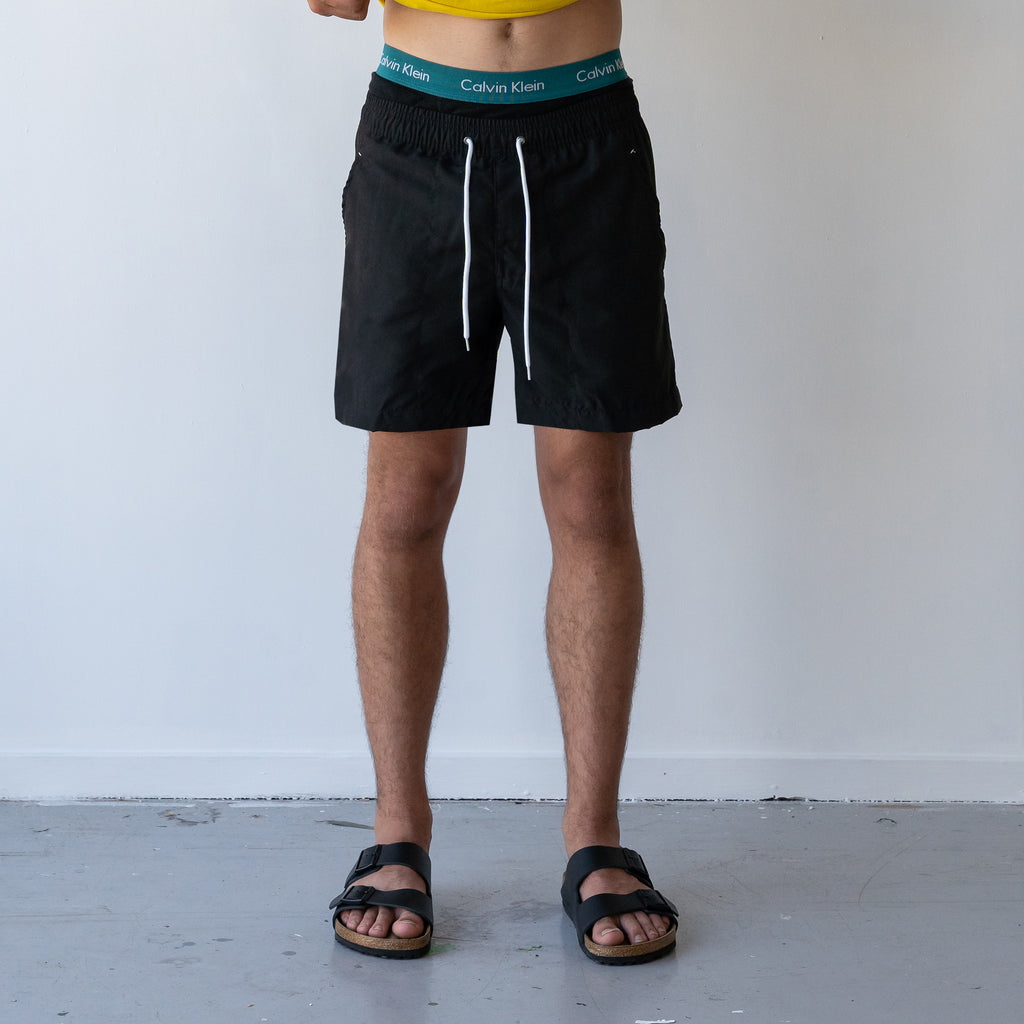 THE STABLE SWIM SHORT / BLACK