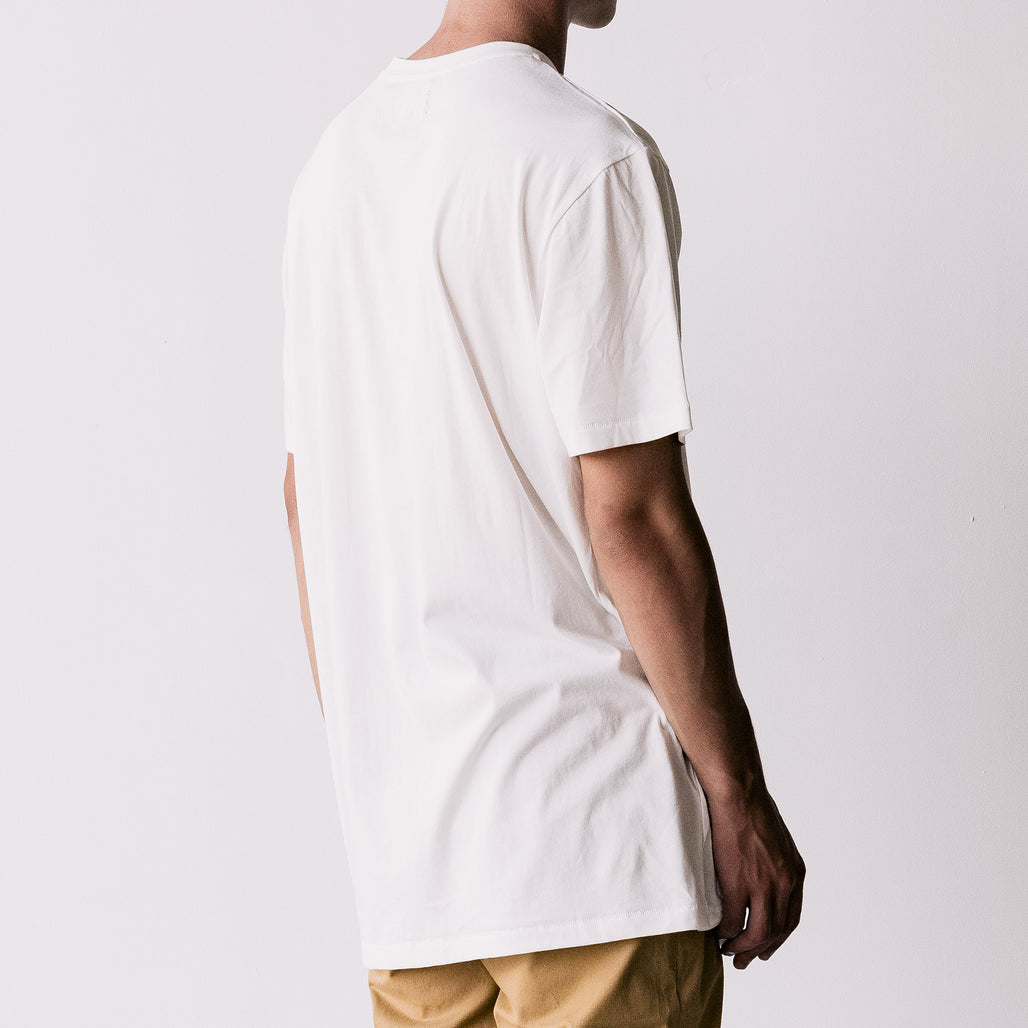 THE LONG REGGIE TEE / WHITE / H I H UP