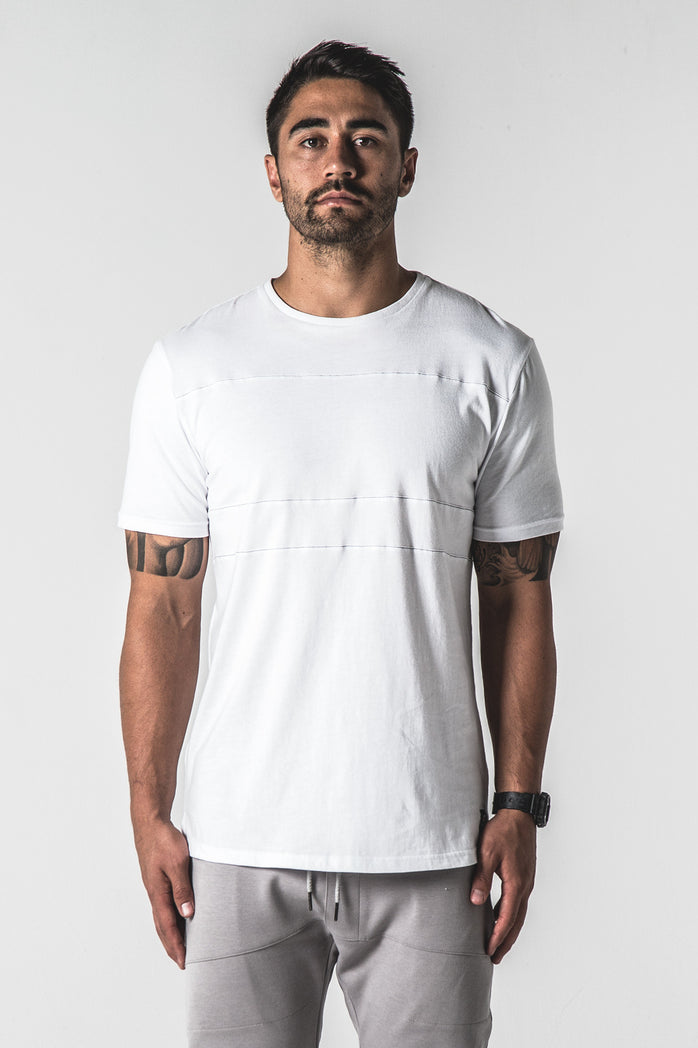 Heavyweight Lined Out Tee - White