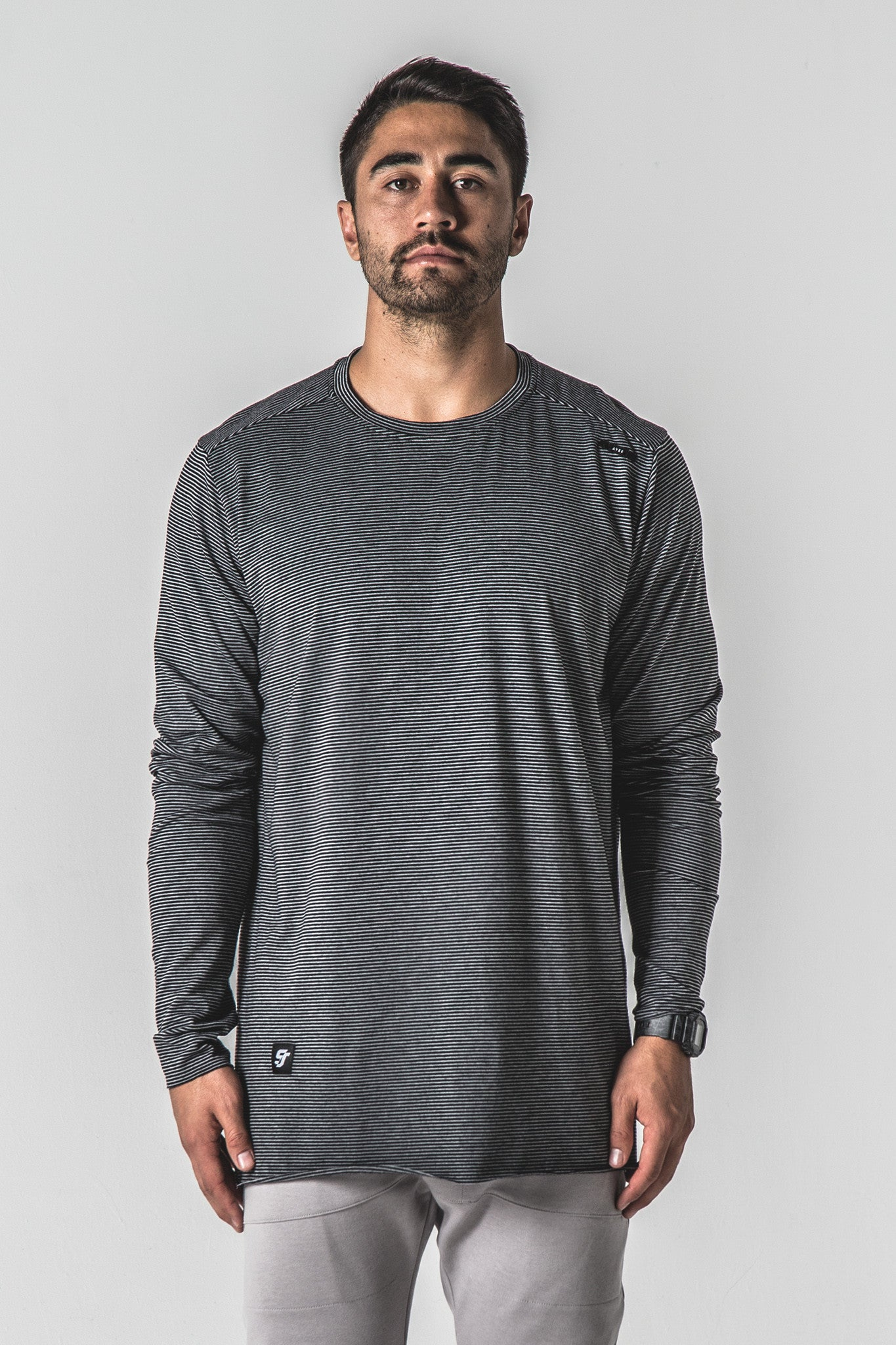 Ka-Nit Long Sleeve - Black/Grey Stripe