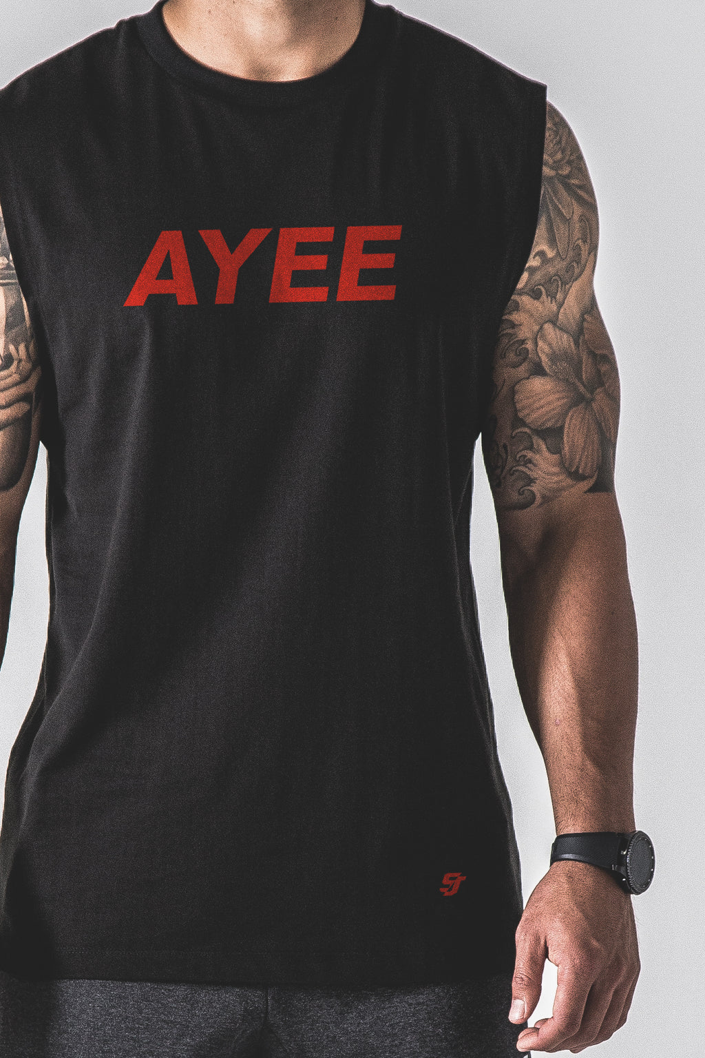 SJ Ayee Tank - Black / Red