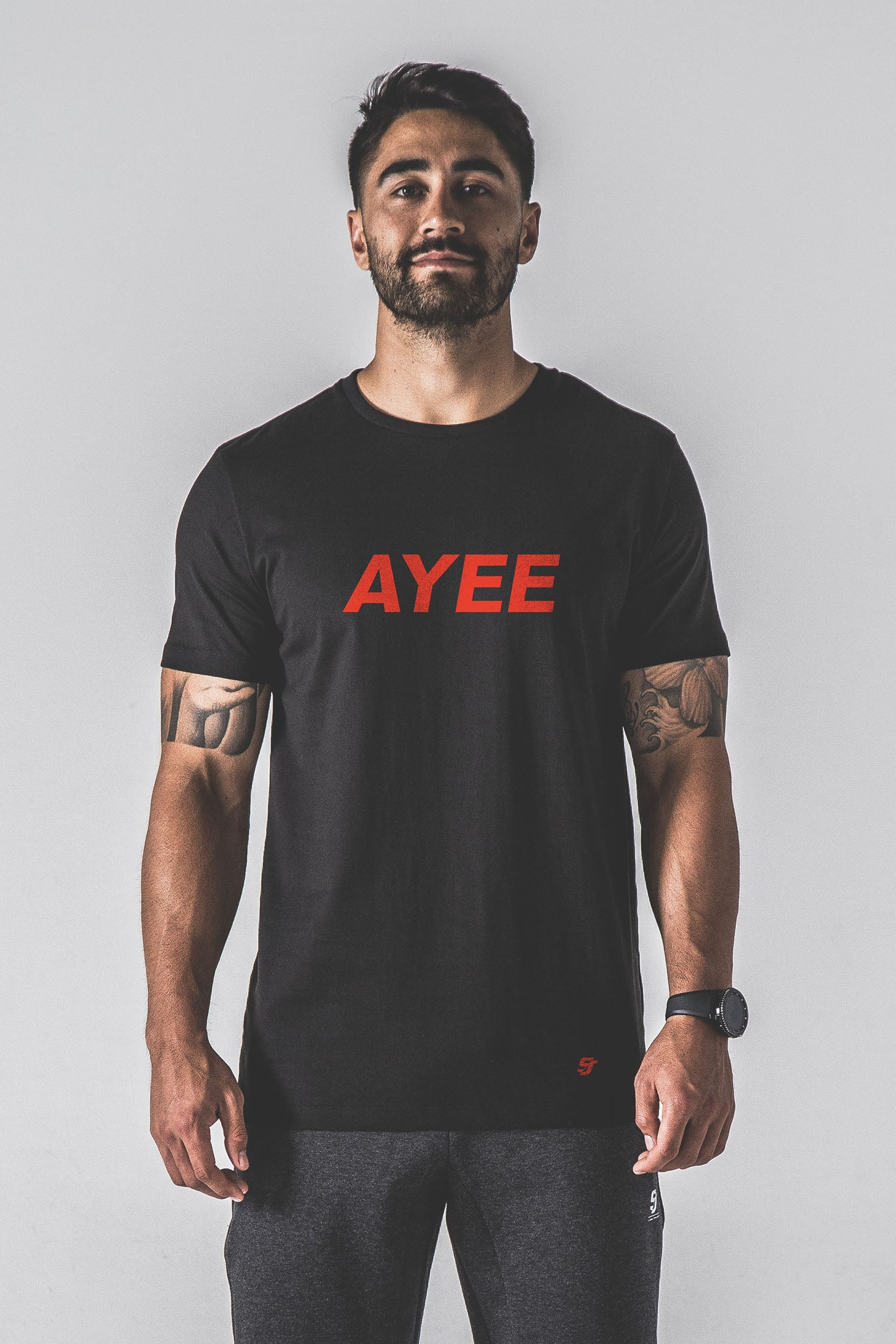 SJ Ayee Tee - Black / Red