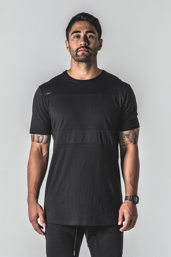 Heavyweight Lined Out Tee - Black
