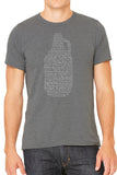 Beer Growler Mens T Shirt - Side Street Print