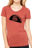 Eat More Tacos Ladies T Shirt - Side Street Print