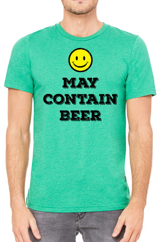 May Contain Beer Mens T Shirt - Side Street Print