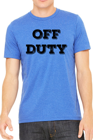 Off Duty Mens T Shirt - Side Street Print
