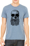 Skull Beard Graphic Mens T Shirt - Side Street Print
