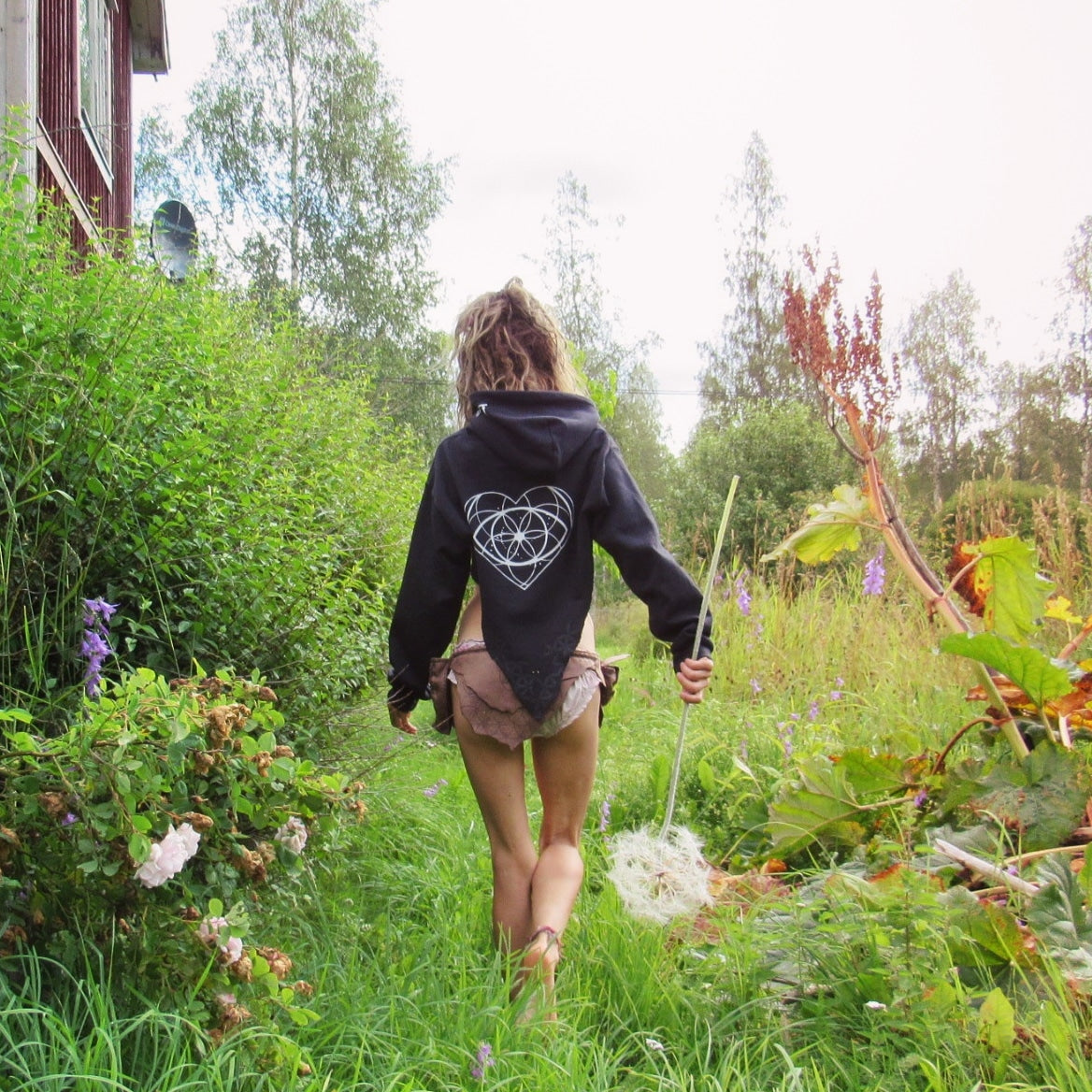 PSY FAIRY THIRD EYE CROP CAPE  HOODIE