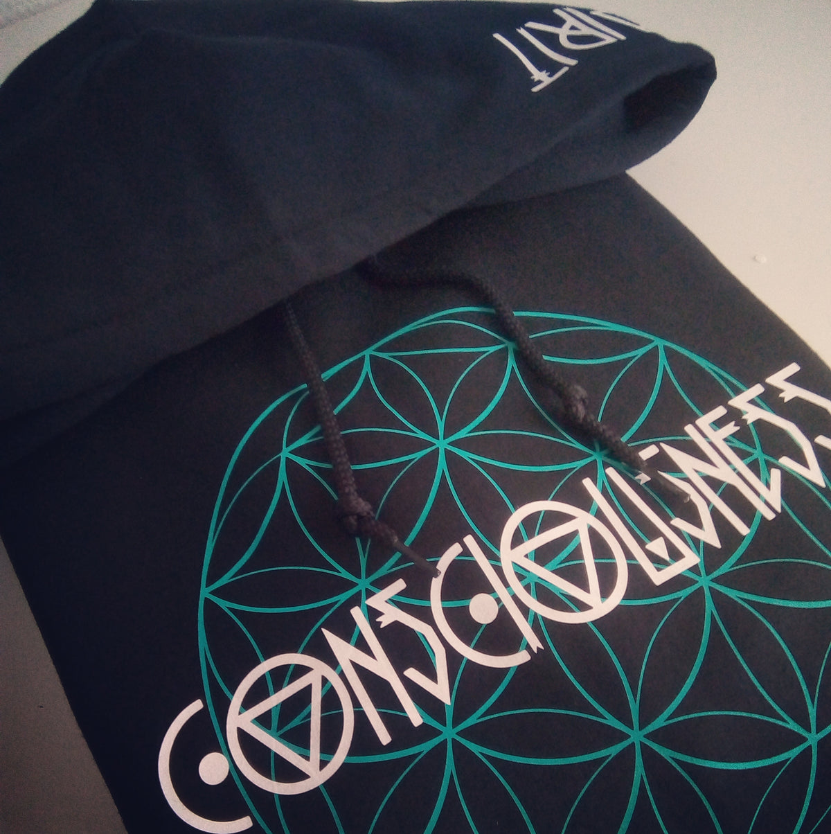 CONSCIOUSNESS ~ FLOWER OF LIFE HOODIE
