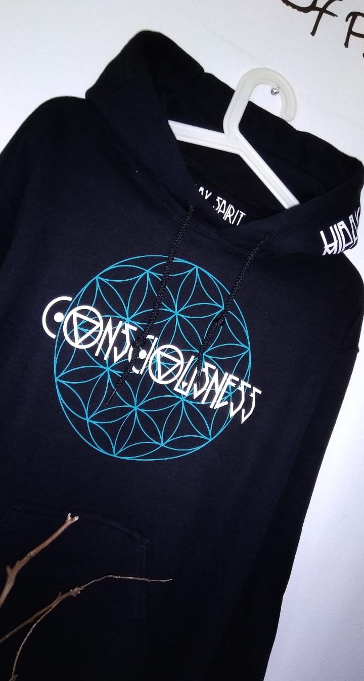 CONSCIOUSNESS - FLOWER OF LIFE HOODIE