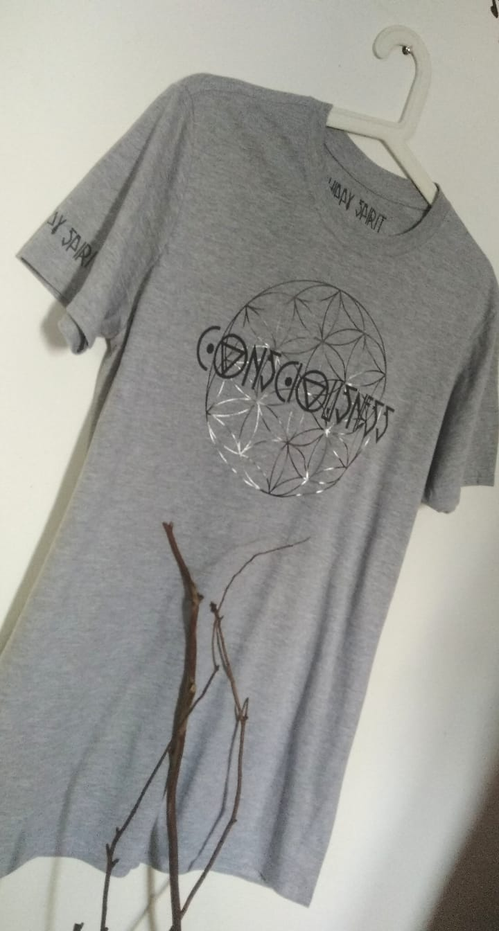 CONSCIOUSNESS - FLOWER OF LIFE T-SHIRT