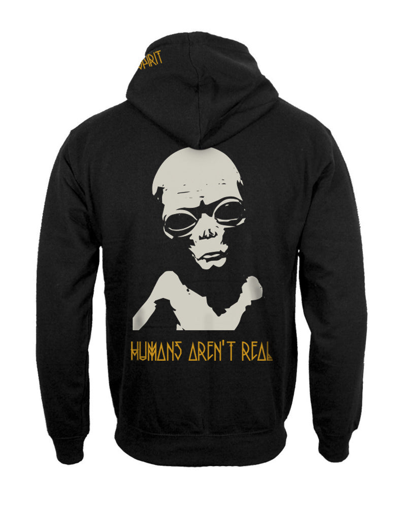 ALIEN HOODIE 'HUMANS AREN'T REAL'