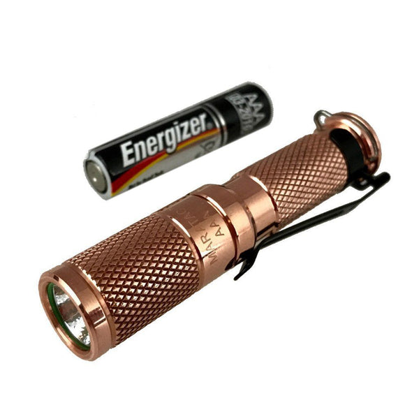 AAA Copper Nichia 219 Flashlight by Maratac REV 5