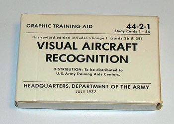 Visual Aircraft Recognition VAR Cards - CountyComm