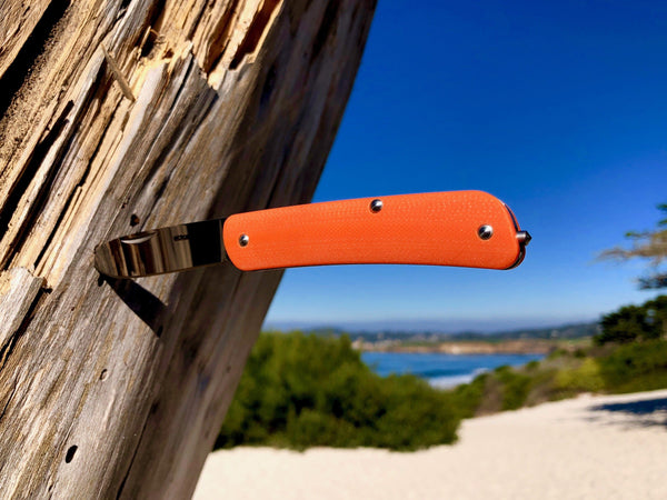 Single Blade - Boker Slip Joint Knife ~ Safety Orange G10 - CountyComm