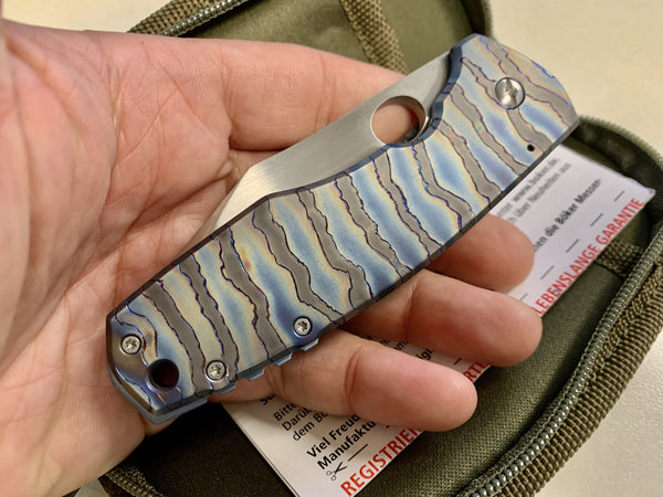 Full Custom 1 of 1 - Boker Boss Carbon Ti - S35VN Blade Knife! - CountyComm