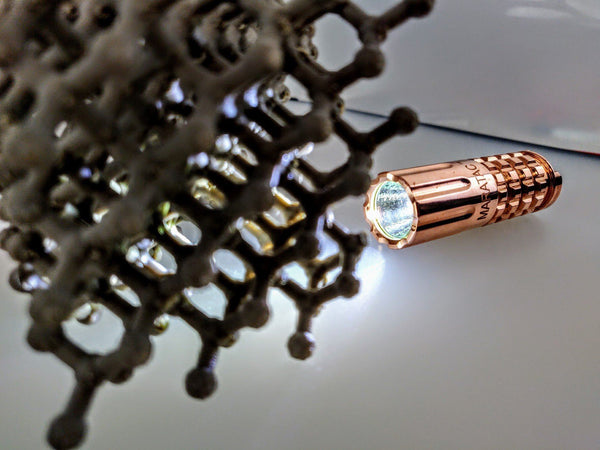 Copper CR123 LED Flashlight by Maratac ™ REV 3 - 2018