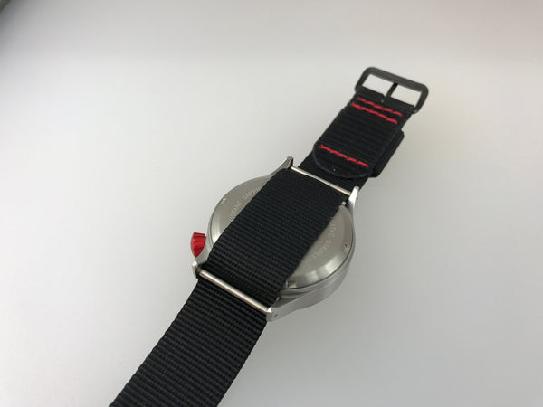 Red Crown - Mid Swiss Quartz Pilot Watch - Central Second by Maratac™