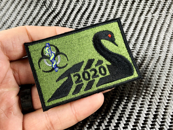 "BIO - MED Swan Rectangle Patch 3""x2"" - CountyComm"