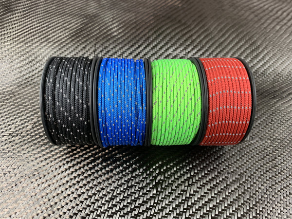 Micro Reflective Cord 65ft /200lb Test - CountyComm