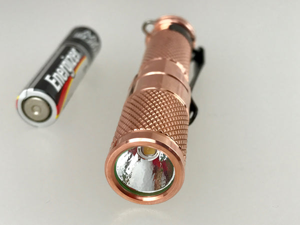 AAA Copper Nichia 219 Flashlight by Maratac ™ REV 4
