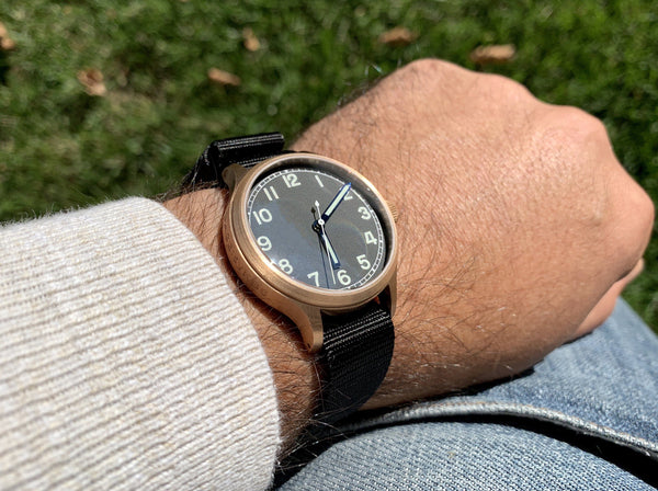 Bronze Field Automatic Watch + Sapphire Back by Maratac - CountyComm