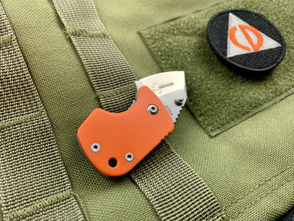 Boker D2 Stub - D2 Blade & Titanium Frame Lock - CC Exclusive - International Orange - CountyComm
