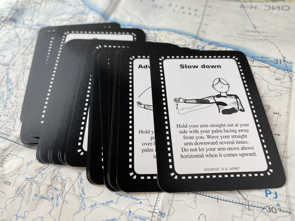 Tactical Hand Signals Cards - Made In USA! - CountyComm