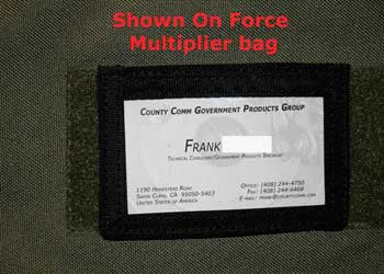 Velcro Backed ID Placard - CountyComm