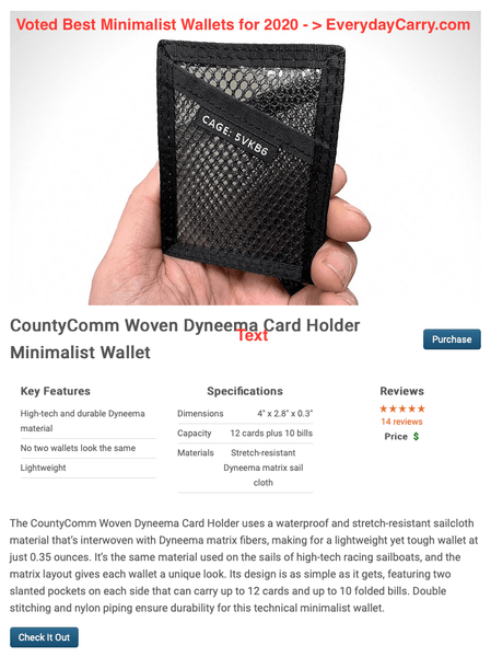 Woven Dyneema® Matrix Card Holder - CountyComm