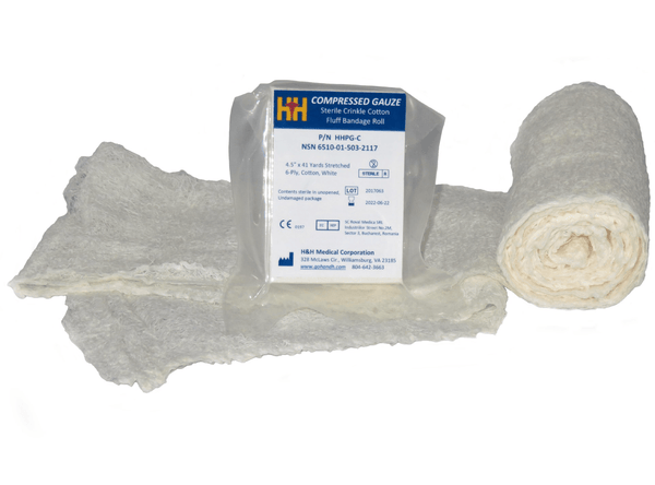 H & H Sterilized Compressed Gauze IFAK First Aid - NSN - CountyComm