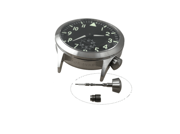 Pilot Watch - Crown / Stem / Tube Assembly - Spare Parts - CountyComm
