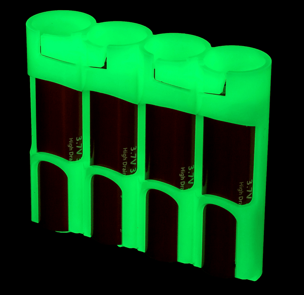 GID Moon Glow Battery Caddy ( AAA / AA / 18650 Sizes ) - CountyComm