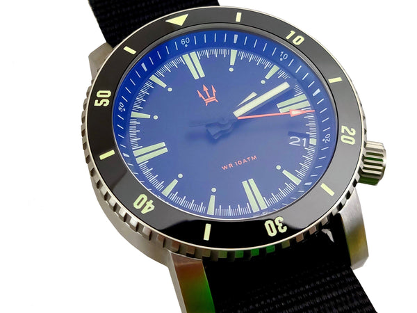( X1D ) SR-35 Diver Automatic Watch by Maratac + Date  -  Newest 2018 Model