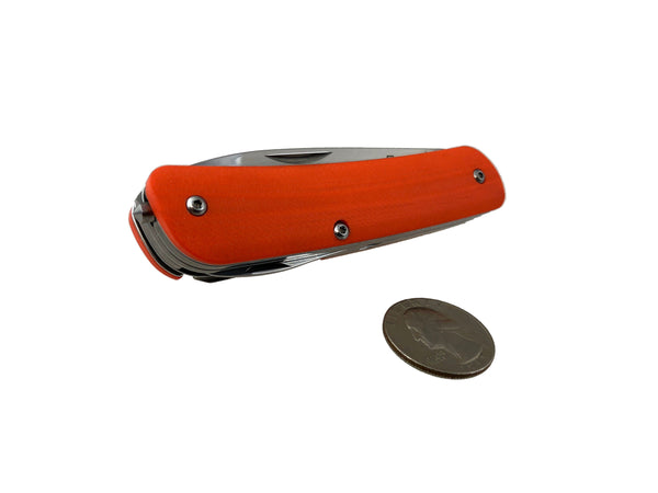 XL - Boker EDC Slip Joint Knife ~ Safety Orange G10 - CountyComm