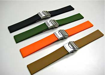 Silicone Rubber Deployment Watch Bands by Maratac ~ - CountyComm