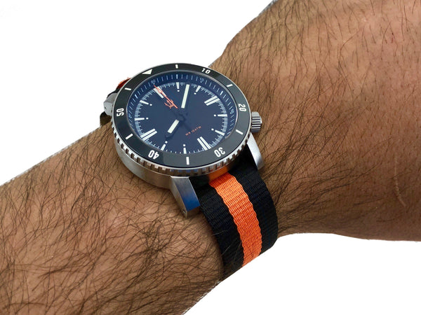 """Mil Series"" Bands by Maratac - Limited Edition International Orange Stripe"