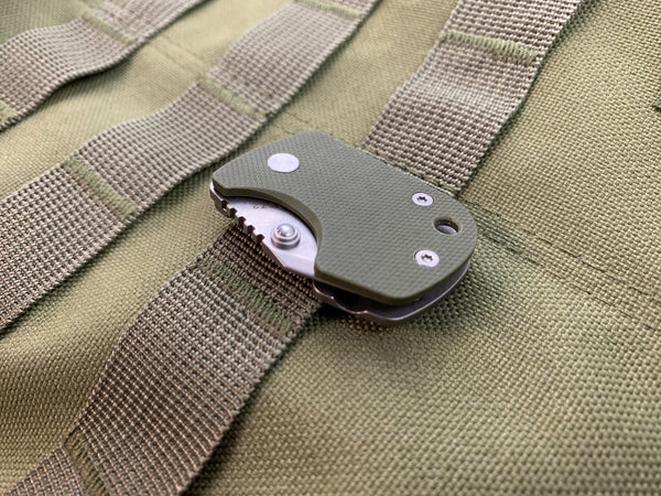 Boker D2 Stub - D2 Blade & Titanium Frame Lock - CC Exclusive - OD Green - CountyComm