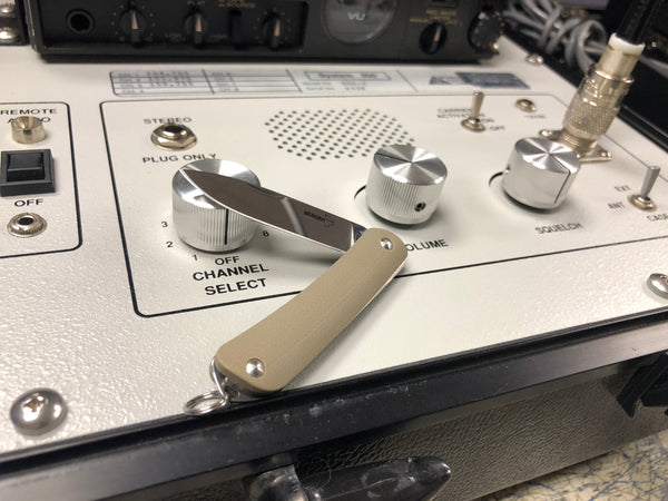 Boker Key Chain Slip Joint Knife ~ Custom Coyote Taupe G10 - CountyComm